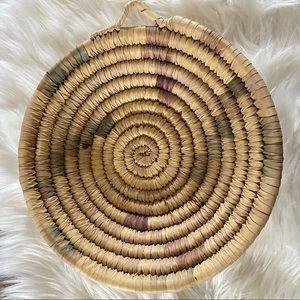 BOHO wicker rattan Basket Wall